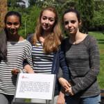 Laila Mungly, Alice Stanghellini e Francesca Vannucchi della 3B della Calvino
