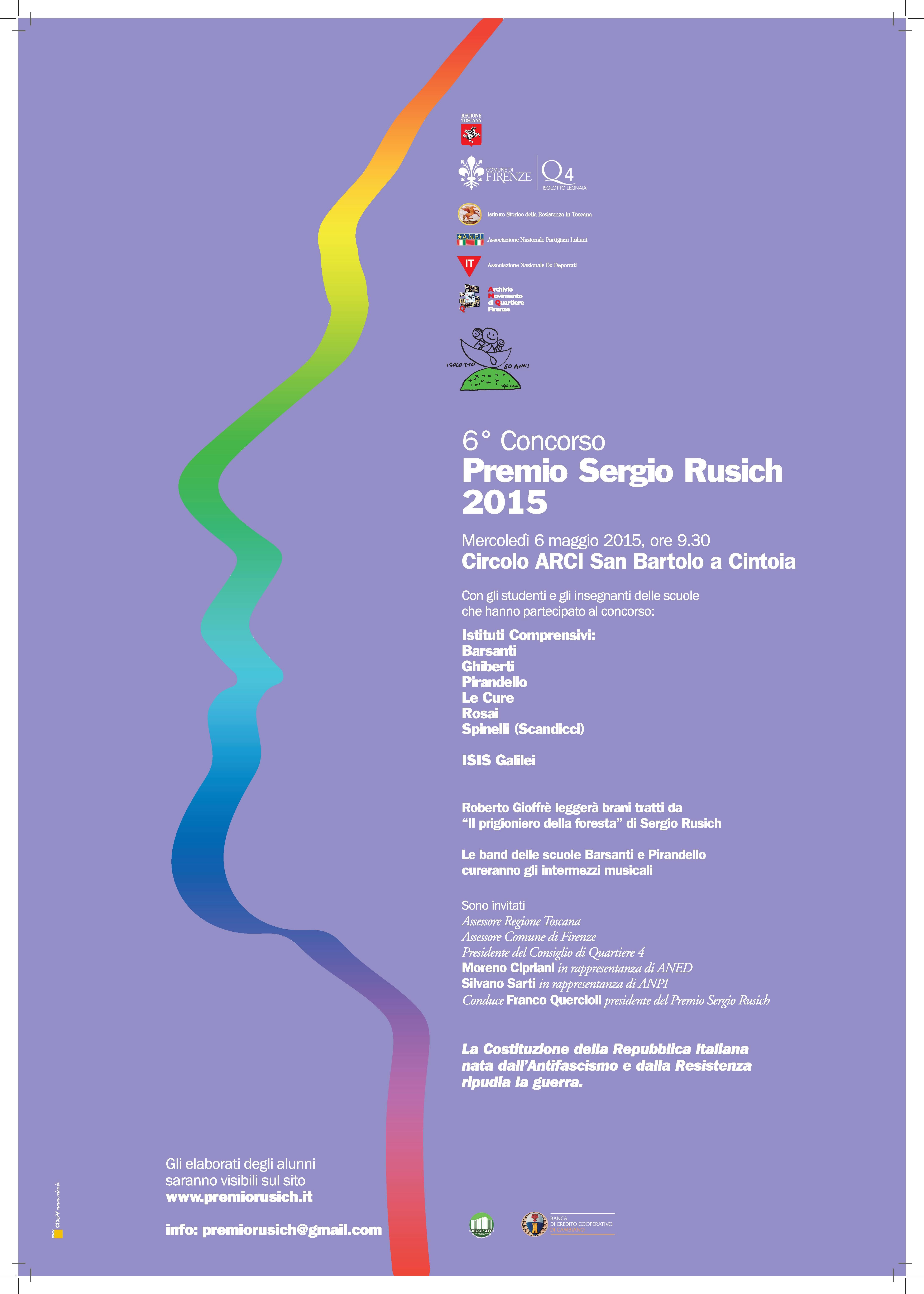 Locandina Premio Rusich 2015