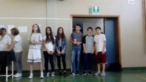 Vincitori torneo di ping ping classi 2°