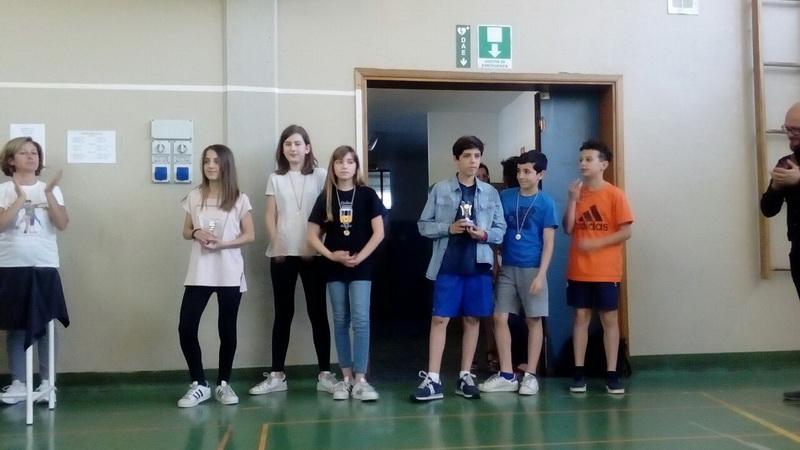 Vincitori del torneo di ping ping classi 1°