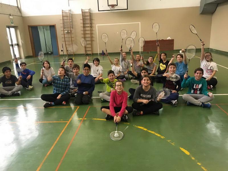 Partecipanti al corso di Badminton