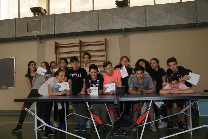Partecipanti torneo Pig Pong classi terze