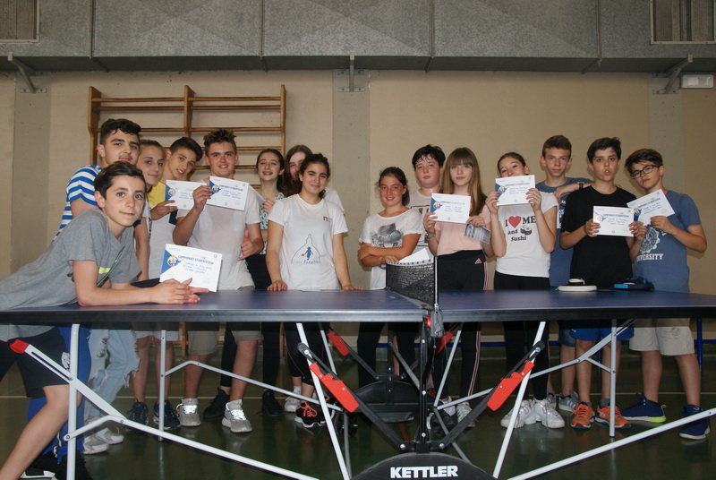 Finalisti torneo Ping Pong classi seconde