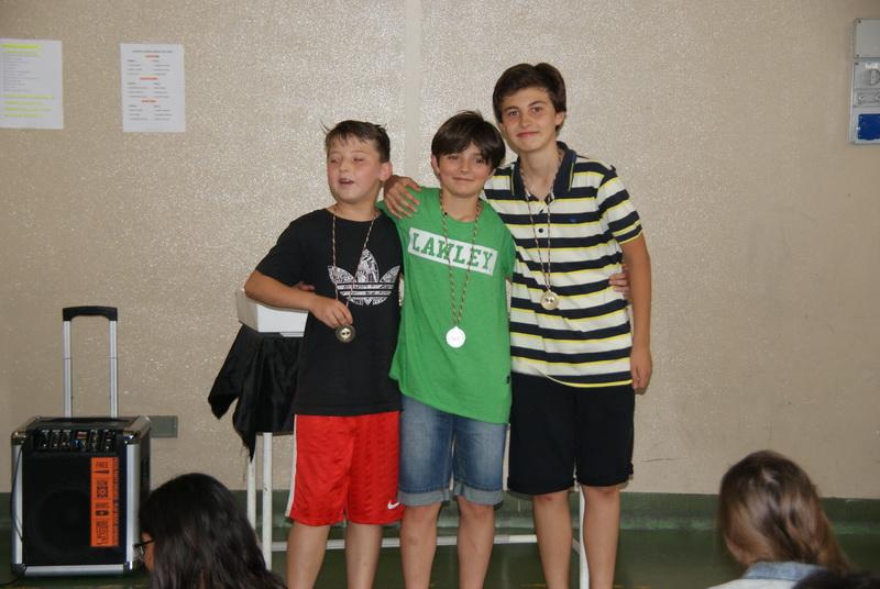 Primi tre classificati Torneo Ping Pong