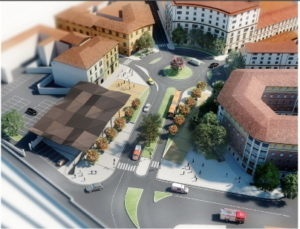 Piazza delle Cure - rendering